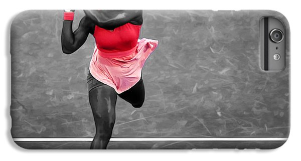 Serena Williams Strong Return IPhone 6 Plus Case by Brian Reaves