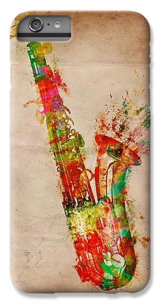 Saxophone iPhone 6 Plus Case - Sexy Saxaphone by Nikki Smith