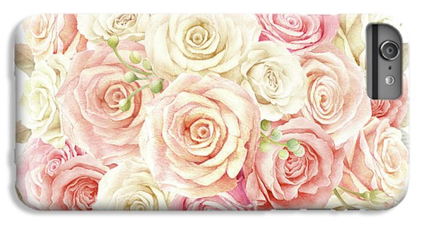 Floral iPhone 6 Plus Case - Shabby Chic Blush Boho Roses by Pink Forest Cafe