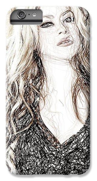 Shakira - Pencil Art IPhone 6 Plus Case by Raina Shah