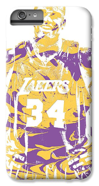 1fa3b3cd0e663 Lakers iPhone 6 Plus Case - Shaquille Oneal Los Angeles Lakers Pixel Art 8  by Joe
