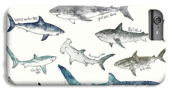Sharks iPhone 6 Plus Case - Sharks - Landscape Format by Amy Hamilton