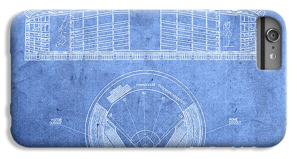 Shea Stadium New York Mets Baseball Field Blueprints IPhone 6 Plus Case