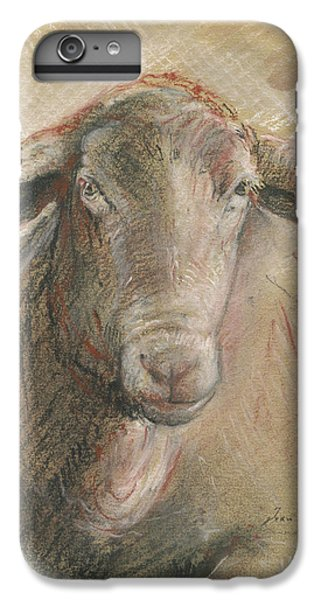 Sheep iPhone 6 Plus Case - Sheep Head by Juan Bosco