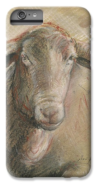 Sheep Head IPhone 6 Plus Case by Juan Bosco