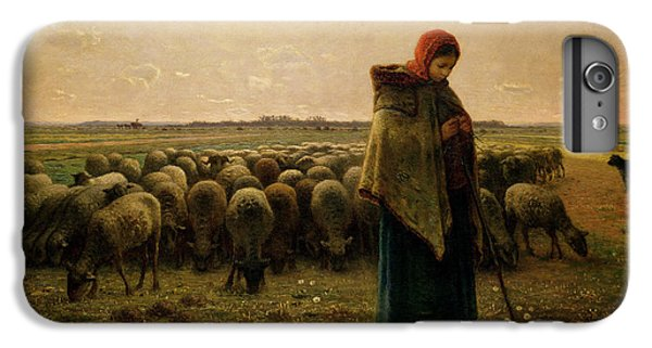 Shepherdess With Her Flock IPhone 6 Plus Case