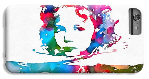 Shirley Temple Watercolor Paint Splatter IPhone 6 Plus Case by Dan Sproul