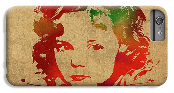 Shirley Temple Watercolor Portrait IPhone 6 Plus Case