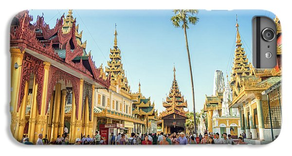 Burmese Python iPhone 6 Plus Case - Shwedagon Pagoda by Delphimages Photo Creations