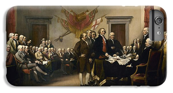 Thomas Jefferson iPhone 6 Plus Case - Signing The Declaration Of Independence by War Is Hell Store