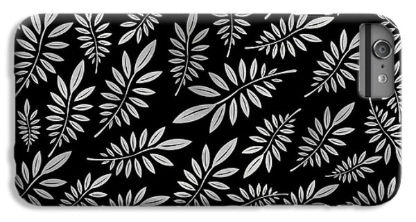 Floral iPhone 6 Plus Case - Silver Leaf Pattern 2 by Stanley Wong