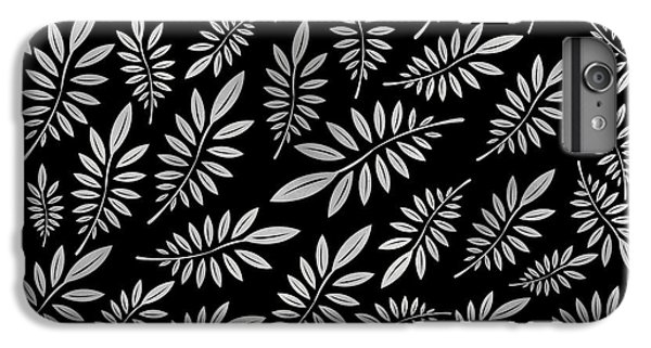 Beach iPhone 6 Plus Case - Silver Leaf Pattern 2 by Stanley Wong