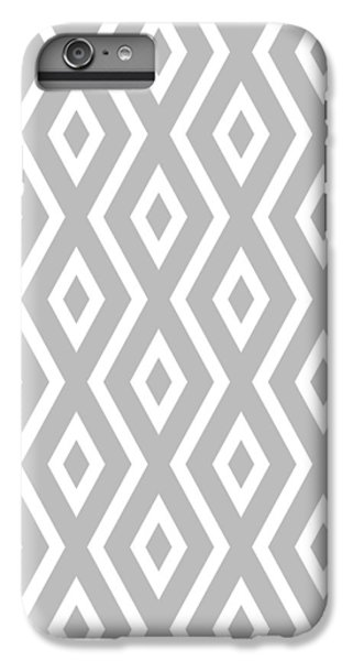 Silver Pattern IPhone 6 Plus Case by Christina Rollo