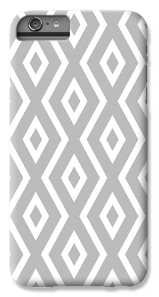 Beach iPhone 6 Plus Case - Silver Pattern by Christina Rollo