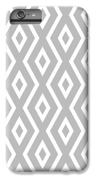 IPhone 6 Plus Case featuring the mixed media Silver Pattern by Christina Rollo