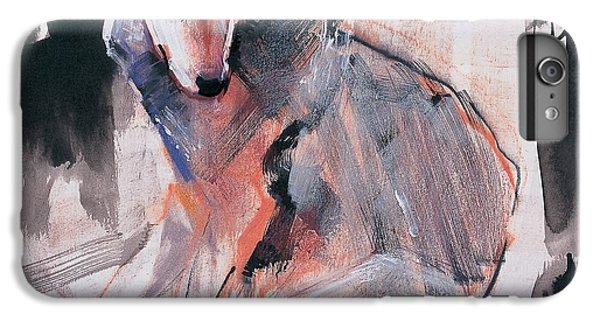Wolves iPhone 6 Plus Case - Sitting Wolf by Mark Adlington