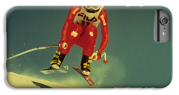IPhone 6 Plus Case featuring the photograph Skiing In Crans Montana by Travel Pics