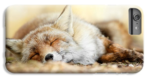 Sleeping Beauty -red Fox In Rest IPhone 6 Plus Case by Roeselien Raimond