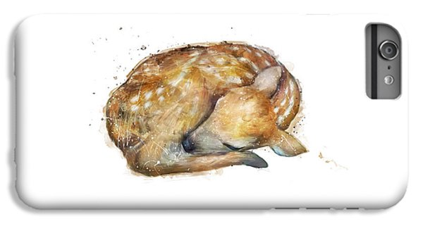 Sleeping Fawn IPhone 6 Plus Case by Amy Hamilton