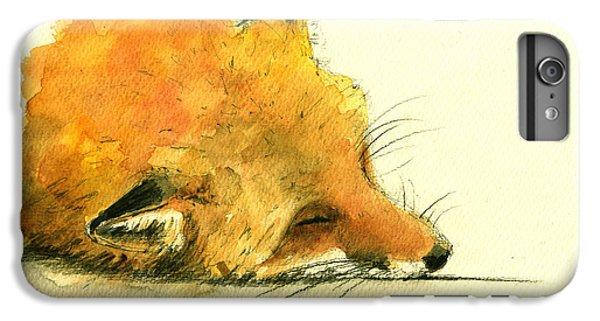 Sleeping Fox IPhone 6 Plus Case by Juan  Bosco