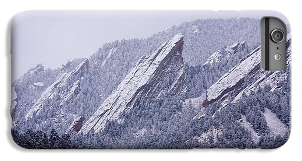 Snow Dusted Flatirons Boulder Colorado IPhone 6 Plus Case