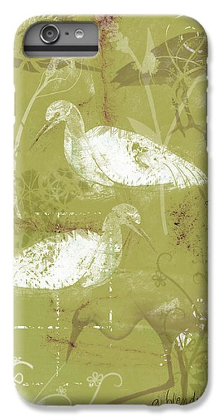 Snowy Egrets IPhone 6 Plus Case by Arline Wagner