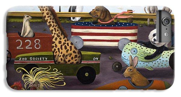 Meerkat iPhone 6 Plus Case - Soap Box Derby by Leah Saulnier The Painting Maniac