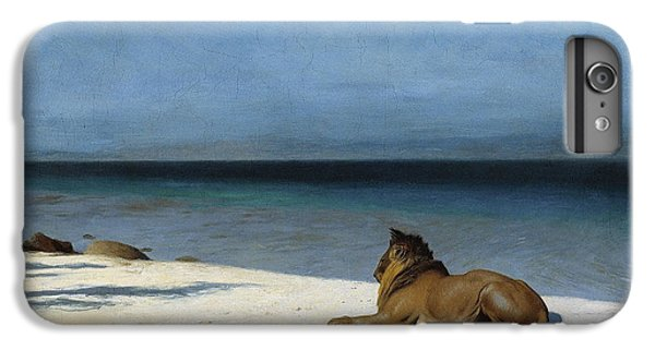 Lion Head iPhone 6 Plus Case - Solitude by Jean - Leon Gerome