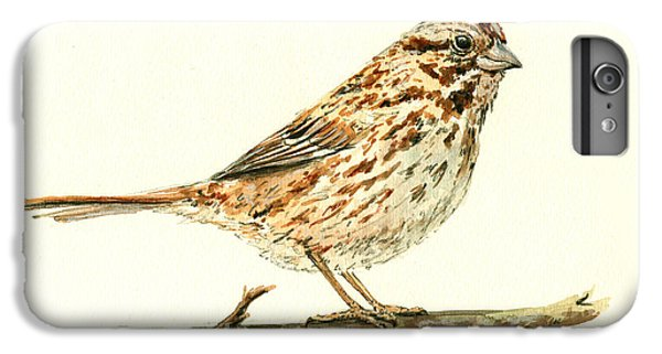 Sparrow iPhone 6 Plus Case - Song Sparrow by Juan  Bosco
