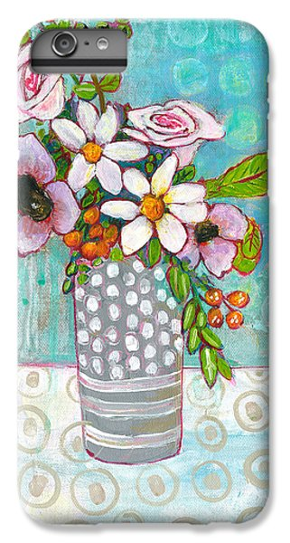 Sophia Daisy Flowers IPhone 6 Plus Case by Blenda Studio
