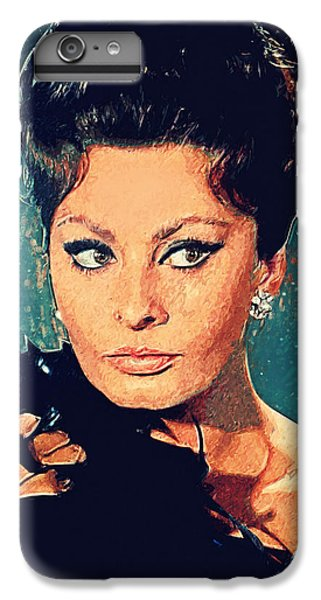Sophia Loren IPhone 6 Plus Case by Taylan Apukovska