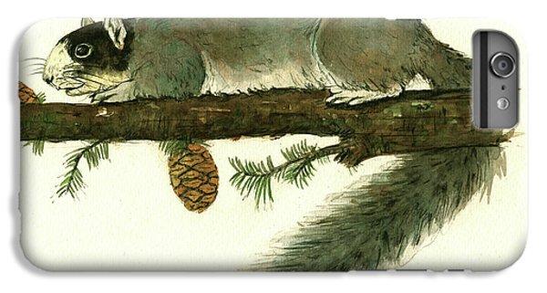 Squirrel iPhone 6 Plus Case - Southern Fox Squirrel  by Juan Bosco