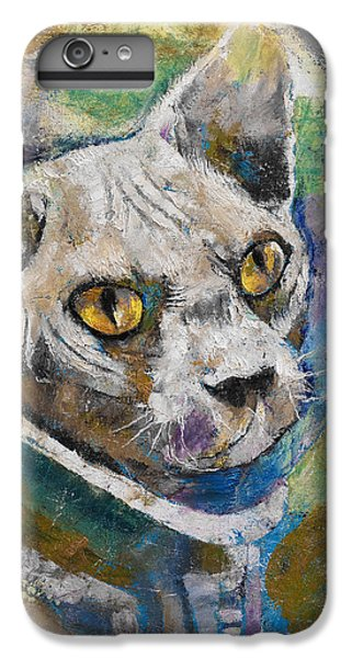 Space Cat IPhone 6 Plus Case by Michael Creese