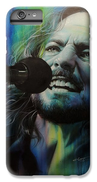 Eddie Vedder - ' Spectrum Of Vedder ' IPhone 6 Plus Case by Christian Chapman Art