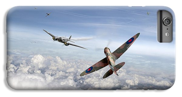 IPhone 6 Plus Case featuring the photograph Spitfire Attacking Heinkel Bomber by Gary Eason