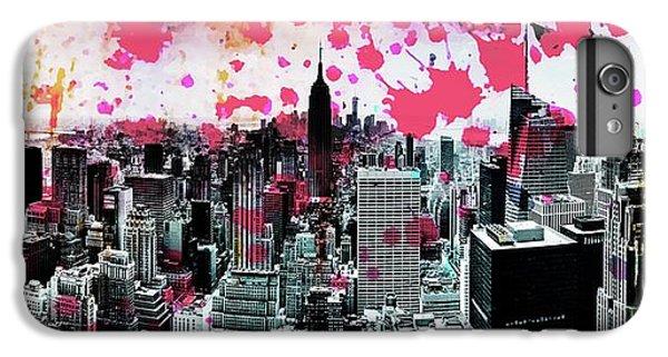 Empire State Building iPhone 6 Plus Case - Splatter Pop by Az Jackson