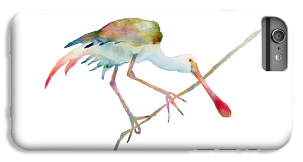 Spoonbill  IPhone 6 Plus Case by Amy Kirkpatrick