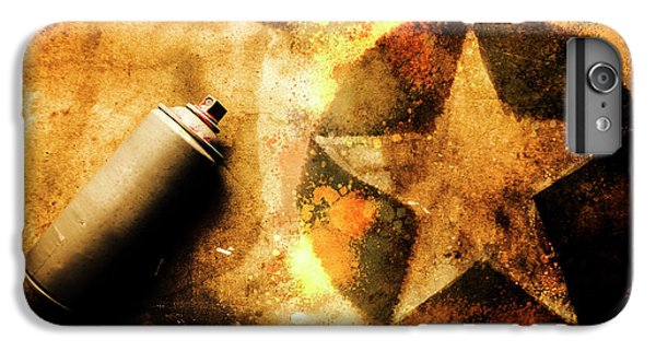 Visual iPhone 6 Plus Case - Spray Can With Army Star Graffiti by Jorgo Photography - Wall Art Gallery