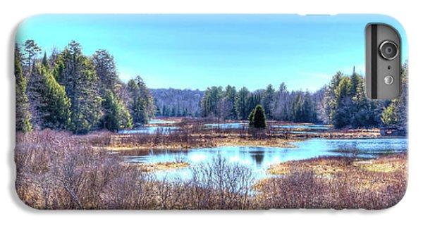 IPhone 6 Plus Case featuring the photograph Spring Scene At The Tobie Trail Bridge by David Patterson