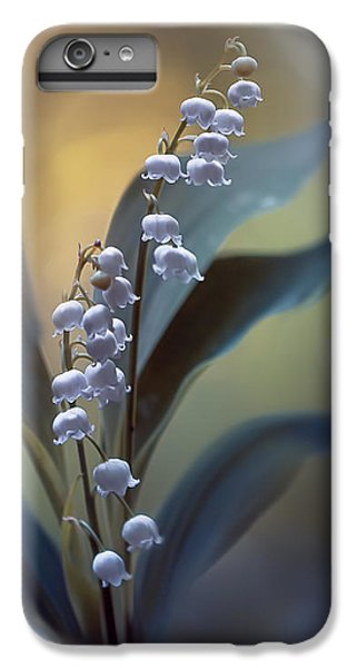 Lily iPhone 6 Plus Case - White Pearls by Magda  Bognar