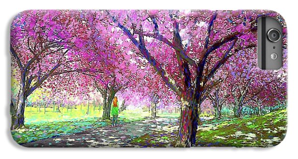 Dallas iPhone 6 Plus Case - Spring Rhapsody, Happiness And Cherry Blossom Trees by Jane Small