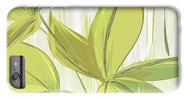 Spring Shades - Muted Green Art IPhone 6 Plus Case by Lourry Legarde