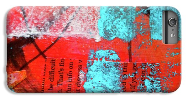 IPhone 6 Plus Case featuring the mixed media Square Collage No. 10 by Nancy Merkle