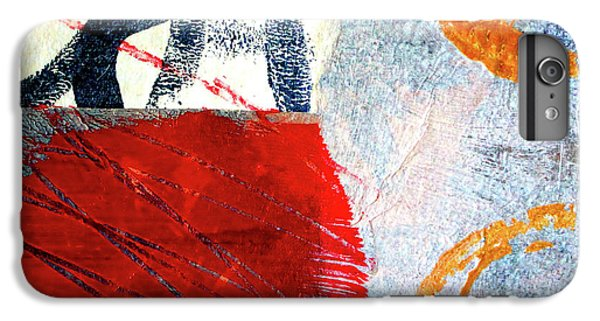 IPhone 6 Plus Case featuring the painting Square Collage No. 3 by Nancy Merkle