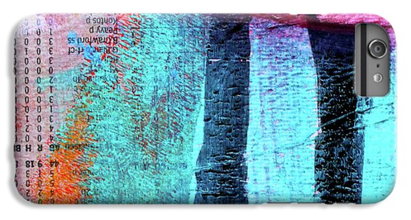 IPhone 6 Plus Case featuring the painting Square Collage No 4 by Nancy Merkle