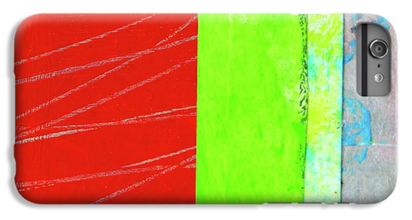 IPhone 6 Plus Case featuring the painting Square Collage No. 5 by Nancy Merkle