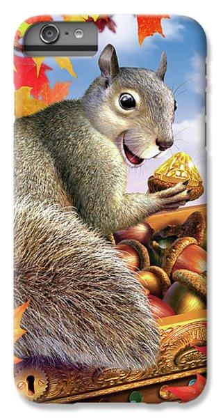 Squirrel iPhone 6 Plus Case - Squirrel Treasure by Jerry LoFaro