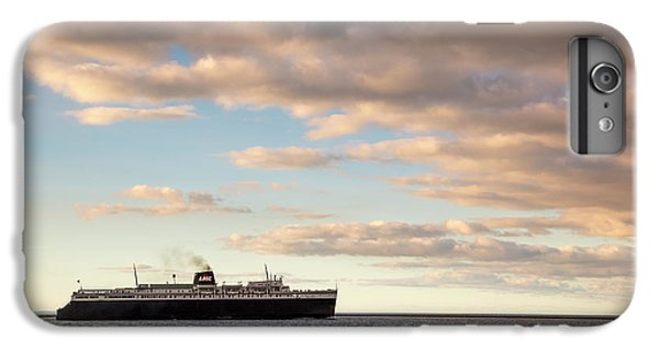 Marquette iPhone 6 Plus Case - Ss Badger Leaving Port by Adam Romanowicz