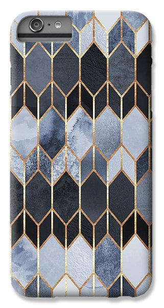 Blue iPhone 6 Plus Case - Stained Glass 4 by Elisabeth Fredriksson