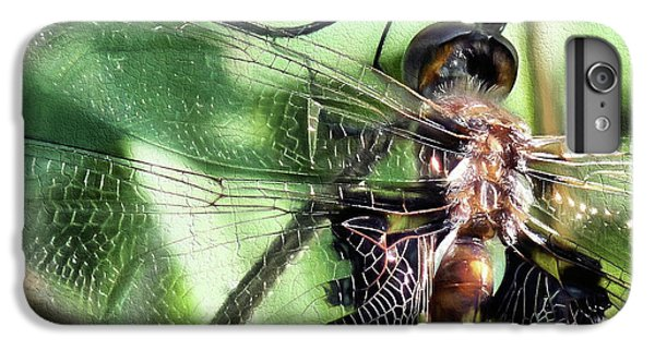 IPhone 6 Plus Case featuring the digital art Stained Glass Dragonfly by JC Findley